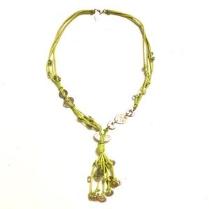 COLDWATER CREEK Green Silver Necklace